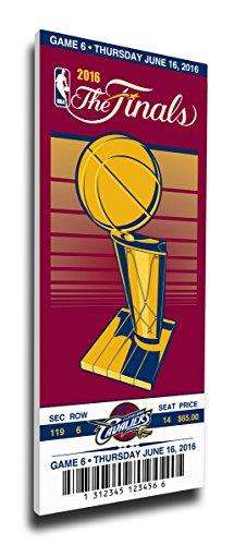 2016 NBA Finals Game 6 Canvas Commemorative Mega Ticket (Small) - Cleveland Cavaliers