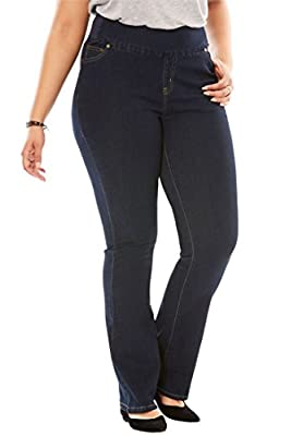 Women's Plus Size Tall Bootcut Smooth Waist Jean