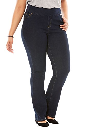 Woman Within Plus Size Tall Bootcut Smooth Waist Jean - Indigo, 24 T