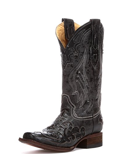 Corral Boot Company Womens Vintage Python Inlay Cowgirl Boots 11 B(M) US Black