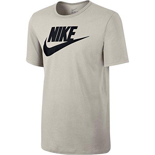 Nike M NSW Icon Futura, T-Shirt Herren Light Bone Black