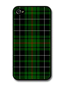 New Green and Red Scottish Tartan Fashion Pattern For Apple Iphone 4/4S Case Cover