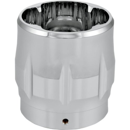 Performance Machine Elite Exhaust End Cap for Bassani Long Megaphone (1in. Internal Lip) - Sweep - Chrome 02042019SWE-CH ()