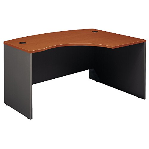 - Bush Business Furniture Series C Collection 60W x 43D Right Hand L-Bow Desk Shell in Auburn Maple