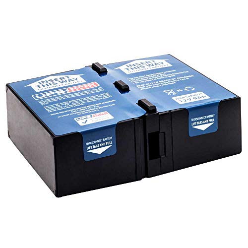 SMC1000I-2U - New RBC124 battery pack for APC Smart UPS C 1000 2U RACK MOUNT 230V SMC1000I-2U - Compatible Replacement by UPSBatteryCenter ()