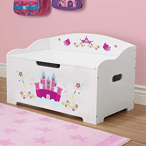 Princess Toy Chest - Dibsies Modern Expressions Toy Box - White (Princess)