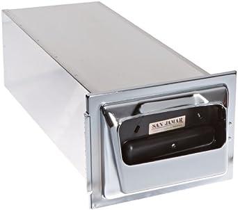 "San Jamar H2001 Stainless Steel In-Counter Fullfold Classic Napkin Dispenser, 750 Plus Capacity, 7"" Width x 19-5/8"" Height x 5-1/2"" Depth, Chrome"