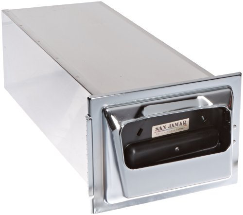 San Jamar H2001 Stainless Steel In-Counter Fullfold Classic Napkin Dispenser, 750 Plus Capacity, 7'' Width x 19-5/8'' Height x 5-1/2'' Depth, Chrome by San Jamar