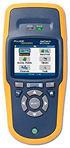 """NETSCOUT AIRCHECK Wi-Fi Tester, LCD Display, 32 to 113 Degrees F Operating Temperature, 3.5"""" Length x 1.9"""" Width x 7.8"""" Height"""
