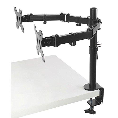 TradeMount Monitor Tischhalterung Eco für Zwei Monitore ausziehbar von 4,0cm bis 48cm 180° neigbar 180° drehbar für Philips 22 226V3LSB5/10 Monitorständer & -arme Auflagen & Ständer