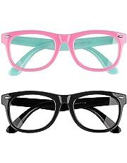 Vetoo Kids Blue Light Blocking Glasses Computer Glasses Gaming Glasses Kids Anti Blue Light Glasses Nerd Fake Glasses for Boys Girls Age 3-10 (2Pack)