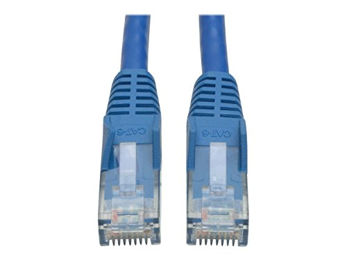 Tripp Lite Cat6 Gigabit Snagless Molded Patch Cable (RJ45 M/M) - Blue, 50 Piece Bulk Pack, 2-ft.(N201-002-BL50BP) (Patch Snagless Molded 550mhz Cables)
