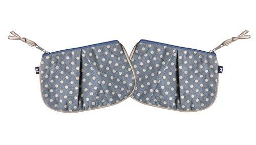 Earth Squared Blue, Red, Grey, Spot Linen Pleat Purse (Pleats Wallet)