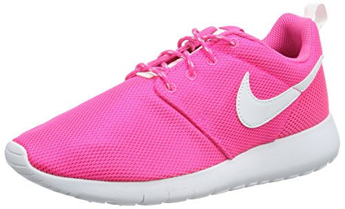 Nike Youth Roshe One Girls Running Shoes Pink Blast/White 599729-611 Size