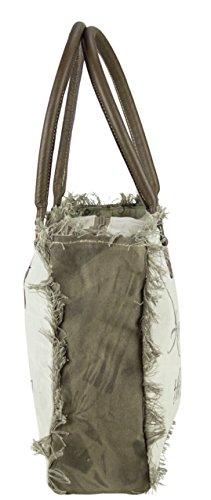 Sunsa Cuir Et Sac Toile 51756 En À Ladies Femme Main Vintage Shopper AqwrzpAv
