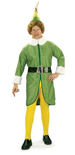 Elf Costumes For Halloween (Elf Movie Buddy The Elf Costume, Green, X-Large)