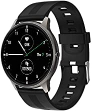 Smartwatch, Blulory BW11 Bluetooth 5.0, IP68 Prova d'Água, Monitor de Atividades, Batimento Cardíaco, Qual