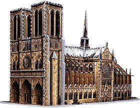 Price comparison product image Notre Dame Cathedral,  952 Piece 3D Jigsaw Puzzle Made by Wrebbit Puzz-3D by puzz 3d