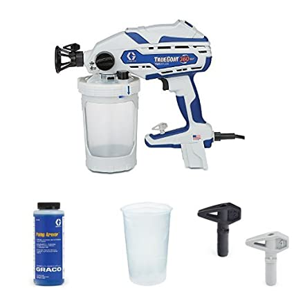 166a1c4b234f4 Graco TrueCoat 360 VSP Paint Sprayer Kit with Pump Armor, Paint Bags and  Tips