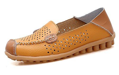 VenusCelia Women's Floral Comfort Walking Flat Loafer
