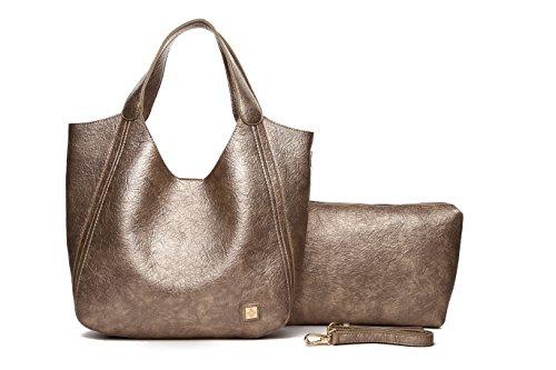 MAMBO DE OTROS MUNDOS, Sac pour femme à porter à l'épaule Marron marron Modelo 1 Bronze