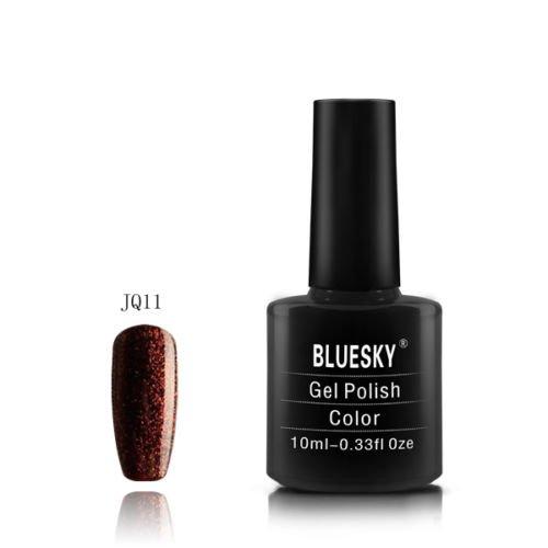 JQ11 Bluesky Soak Off UV LED Gel Nail Polish Brown Bronze Copper Fine Glitter