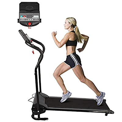 Water-chestnut Electric Treadmill Folding Motorized Running Machine with LED Display 500W 10km/h for Running Exercise at Home