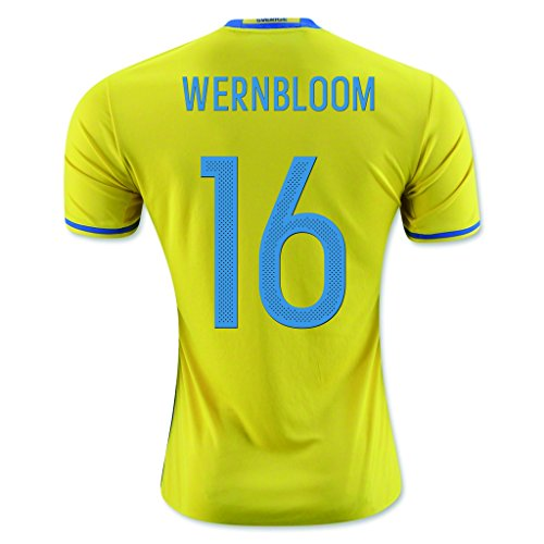 fan products of Yellow #16 Wernbloom Home Match Football Soccer Adult Jersey EURO 2016