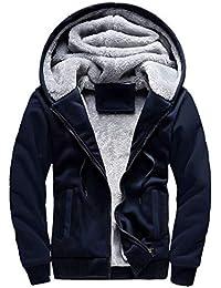 Women's Solid Hooed Hoodies Thick Wool Lining Warm Winter Jacket Coats