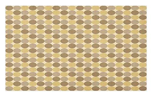 - Lunarable Beige Doormat, Simplistic Pattern of Several Brown Tone Circles for Geometric Vintage Style Print, Decorative Polyester Floor Mat with Non-Skid Backing, 30 W X 18 L inches, Multicolor