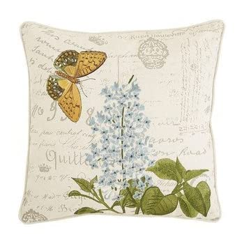 Amazon Pier 40 Imports Embroidered Flower Butterfly Script Enchanting Pier 1 Pillow Covers