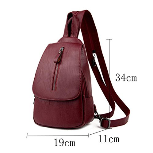 Casual use Black Womens Bag Student Fashion Backpack Dual qtn7Z7wgX