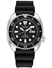 Men's Automatic Diver Watch with Black Silicone Strap