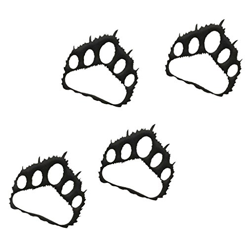 - 7055 Inc Rustic Elements Bear Paw Prints (set of 4) Metal Wall Art, Hammered Black
