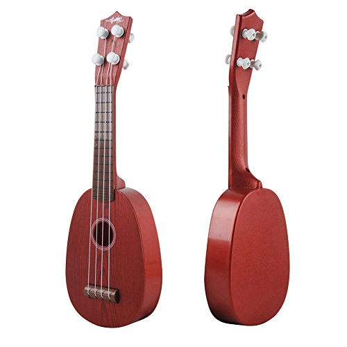 Kingtoys 4 String Guitar for Kids Mini Ukulele Children Musical Instruments Educational Toy 2-5 years old (Red)