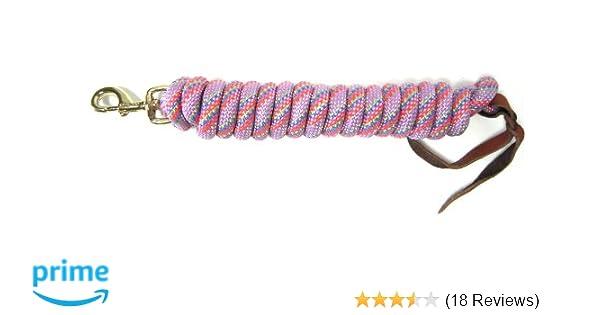 """5//8/"""" Thick x 10/' Long Hamilton Cowboy Braided Rope Lead Black"""