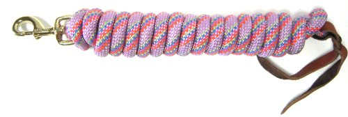Hamilton Cowboy Braided Rope Lead, Multi-Weave Lavender, 5/8