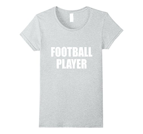 Womens Football Player Halloween Costume Party Cute & Funny T shirt XL Heather Grey - Female Football Player Costume