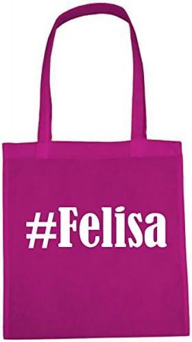 Tas Felisa grootte 38x42 kleur roze print wit