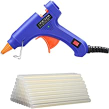 Hot Glue Gun, TopElek Glue Gun Kit with 50pcs Glue Sticks, High Temperature Melting Glue Gun for DIY Small Projects, Arts and Crafts, Home Quick Repairs,Artistic Creation(20 Watts, Blue)