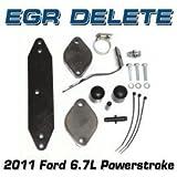 FORD 2011 6.7L EGR DELETE KIT PRE TAPPED FOR FACTORY EGT SENSOR H&S