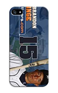 LarryToliver Customizable Baseball Detroit Tigers Hard Back Shell Case Cover Skin for iphone 5/5s Cases - Customizable Baseball Detroit Tigers WANGJING JINDA