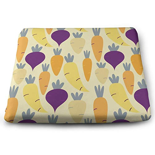 (Comfortable Seat Cushion Chair Pad Root-Vegetables Perfect Memory Foam Cushions Lighten The Bumps)