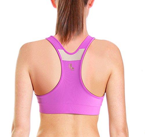 Underwired Stripe Bra (Lupo Women's High Impact Wirefree Racerback Running Sports Bra, X-Large Juliete)