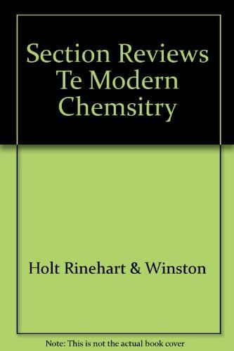 Modern Chemistry Section Reviews Teacher Edition