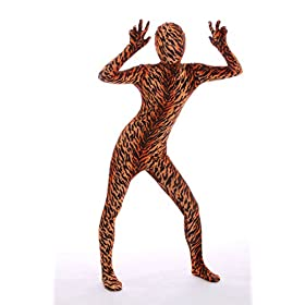 - 41O2DTs9NlL - Halloween Cosplay Full Bodysuit Animal Pretend Play Tiger Dress Up Zentai Costume