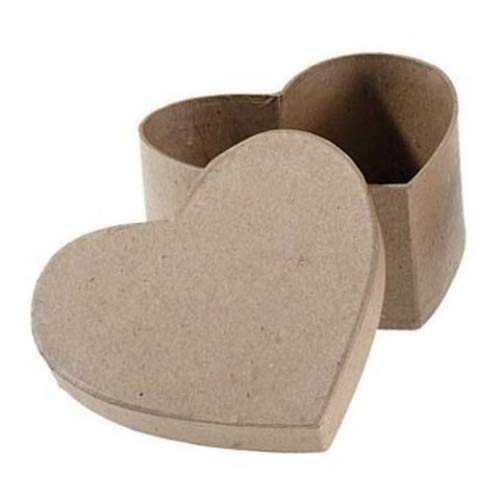 (Bulk Buy: Darice DIY Crafts Paper Mache Box Heart 4-1/2 x 4-1/2 x 2 in (6-Pack) 2833-32)