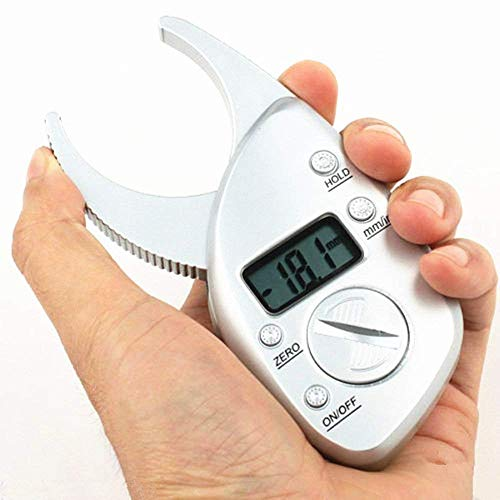 - Digital Body Fat Caliper, Body Fat Electronic Handheld Body Fat Caliper Measurement Device Measuring Tool Skinfold LCD Display Tester Analyzer