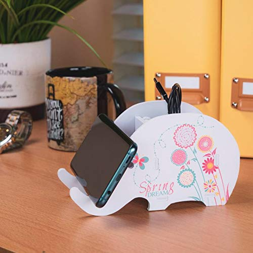 Cell Phone Stand Cute Elephant Phone Stand Tablet Desk Bracket With Pen Pencil Holder Compatible Smartphone Desk Decoration Mu Desk Accessories & Organizer
