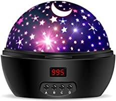 Star Sky Night Lamp,ANTEQI Baby Lights 360 Degree Romantic Room Rotating Cosmos Star Projector with LED Timer Auto-Shut...